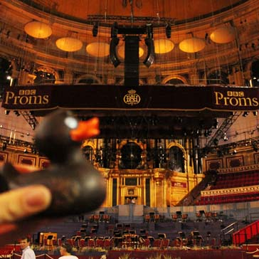 In der Royal Albert Hall vor den BBC Proms