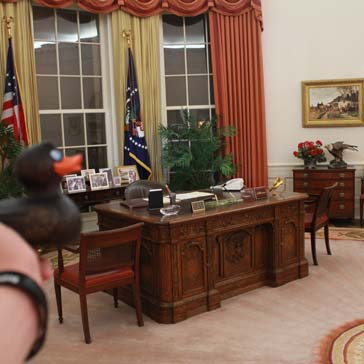 Nachbau Oval Office in der Reagan Library